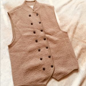 100% Wool Button Up Vest